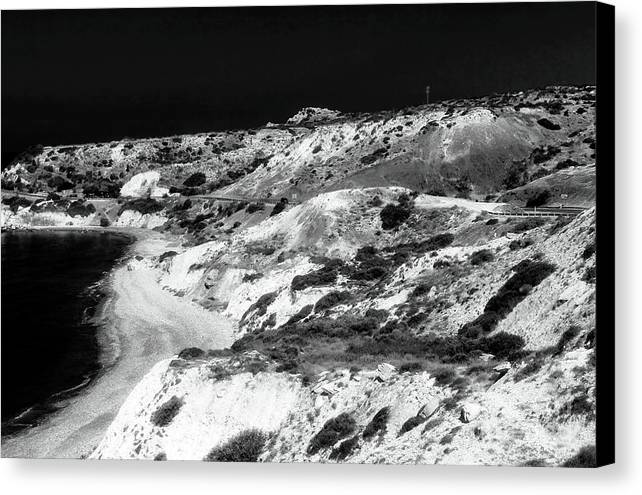 The Black Coast Canvas Print featuring the photograph The Black Coast by John Rizzuto