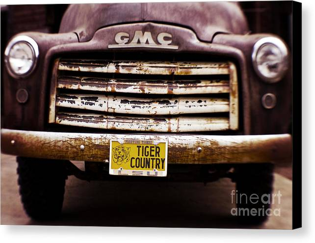 Lsu Canvas Print featuring the photograph Tiger Country - Purple And Old by Scott Pellegrin