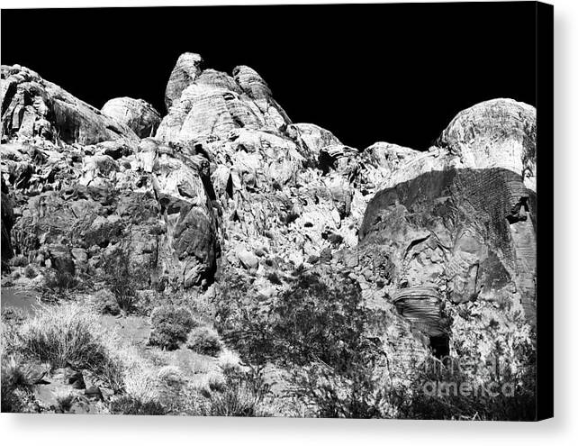 Mountain Horns Canvas Print featuring the photograph Mountain Horns by John Rizzuto