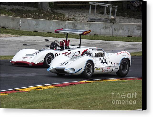 Automobile Canvas Print featuring the photograph 1969 Lola T163 And 1965 Wolverine Road America by Tad Gage