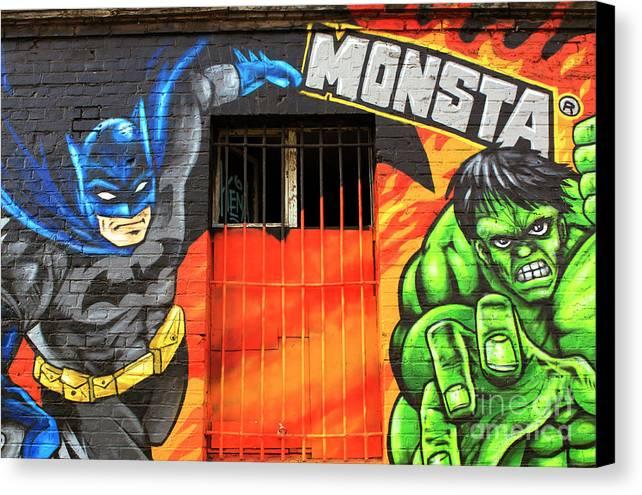 Berlin Wall Monsta Door Canvas Print featuring the photograph Berlin Wall Monsta Door by John Rizzuto
