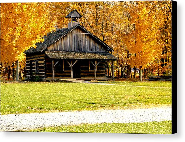 Photographs Canvas Print featuring the photograph Church School 1 by Franklin Conour
