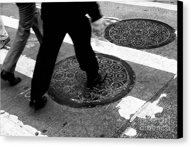 Crossings Canvas Print featuring the photograph Crossings On The Cover by John Rizzuto
