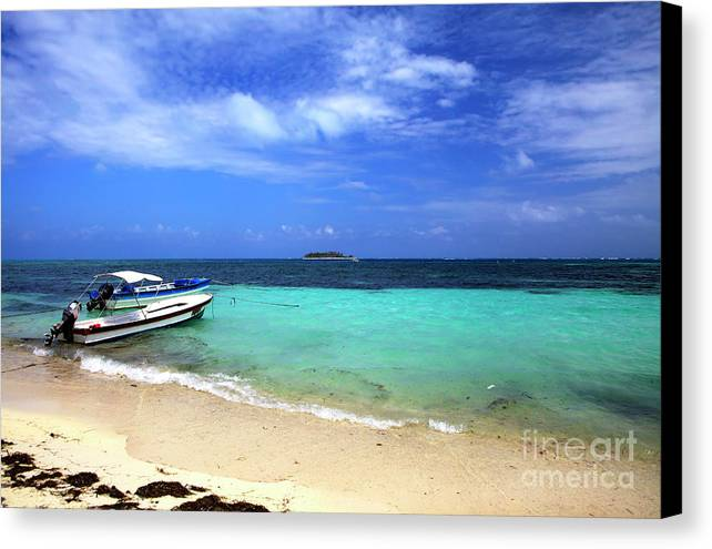Beach Canvas Print featuring the photograph San Andres Island by John Rizzuto
