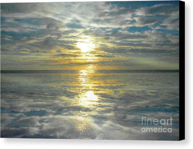 Abstraction Of A Sunset In Boca Grande Fl Overlooking The Gulf Of Mexico 2017 Canvas Print featuring the photograph Sunset by Thomas Carroll