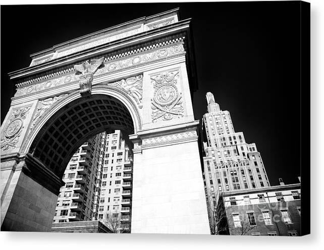 Washington Square Park Canvas Print featuring the photograph Washington Square Arch by John Rizzuto