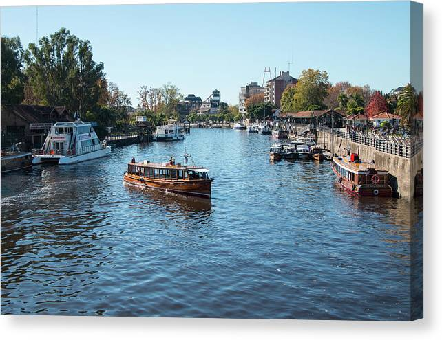Travel Canvas Print featuring the photograph Tigre Delta by Robert McKinstry
