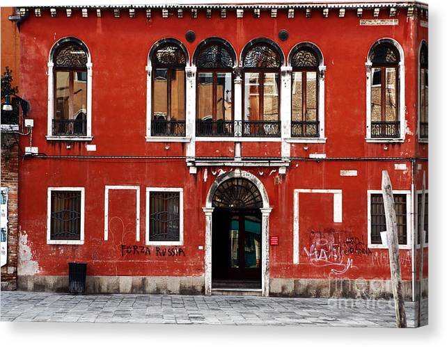 Venetian Architecture Canvas Print featuring the photograph Venetian Architecture by John Rizzuto
