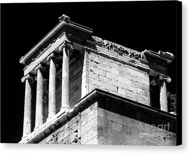 Temple Of Athena Nike Canvas Print featuring the photograph Temple Of Athena Nike by John Rizzuto