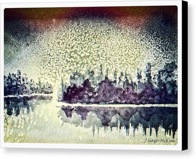 Snow Canvas Print featuring the painting Dome Of Snow by Jo-Anne Gazo-McKim