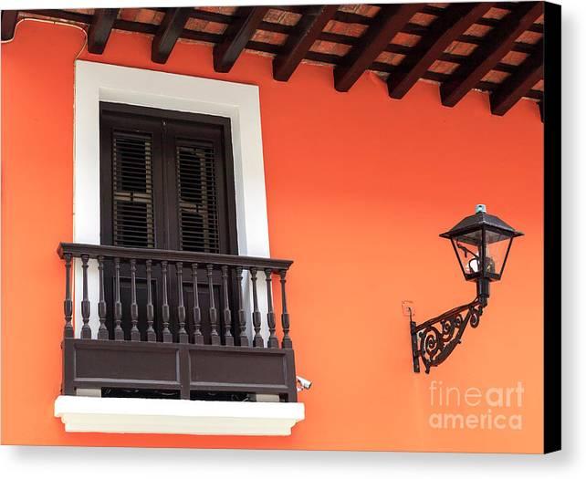 Caribbean Window Canvas Print featuring the photograph Caribbean Window In San Juan by John Rizzuto