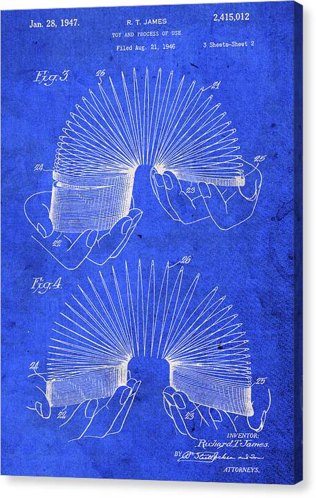 Slinky Toy Patent Blueprint by Design Turnpike