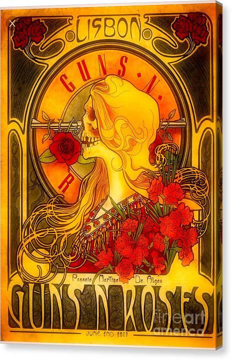 Guns N Roses Lisbon Canvas Print