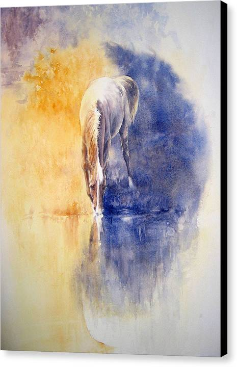 Horses Canvas Print featuring the painting Equanimity by Barbara Widmann