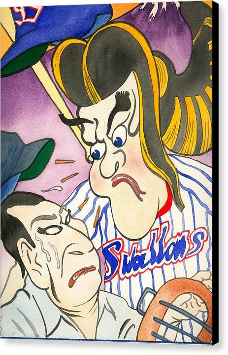 Japan Canvas Print featuring the painting Nippon Baseball by Robert Myers