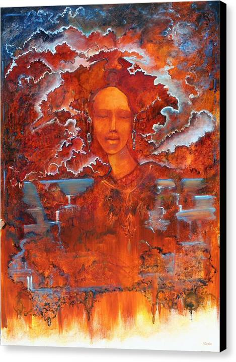 Visionary Canvas Print featuring the painting Ariel Borealis by Larkin Chollar