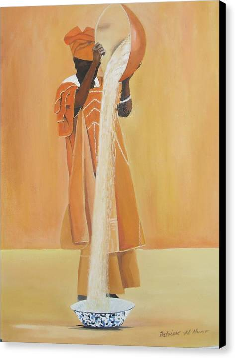 African Art Canvas Print featuring the painting Mother's Work by Patrick Hunt