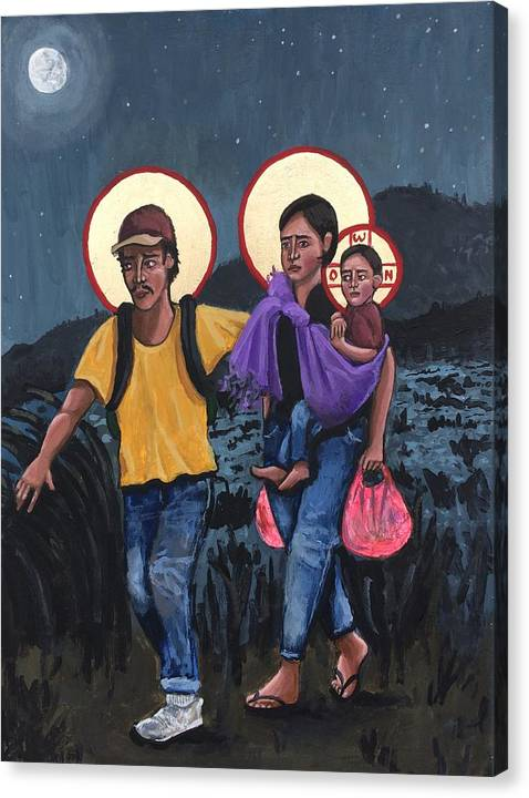 Refugees La Sagrada Familia by Kelly Latimore