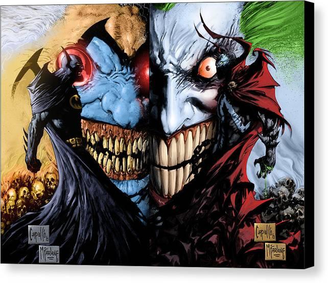 Batman-Spawn_War Devil by Mery Moon
