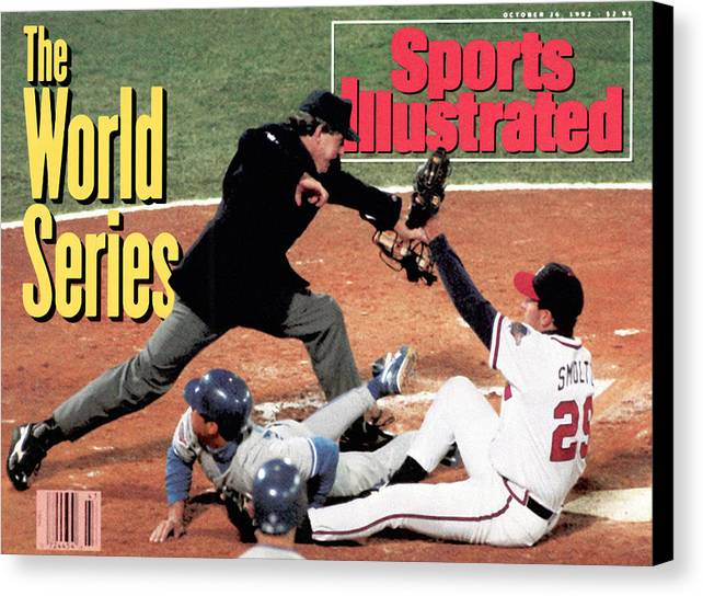 Atlanta Canvas Print featuring the photograph Atlanta Braves John Smoltz, 1992 World Series Sports Illustrated Cover by Sports Illustrated