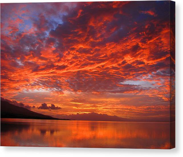 Molokai Canvas Print featuring the photograph Hawaii Sunrise by James Temple