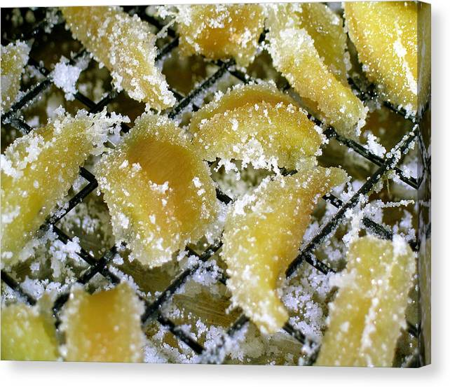 Crystallized Ginger Canvas Print featuring the photograph Crystallized Ginger by James Temple