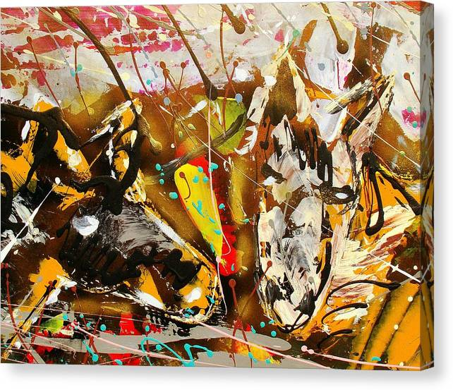Abstract/impressionist Painting Canvas Print featuring the photograph Spirit Of The Horses A by J R Seymour