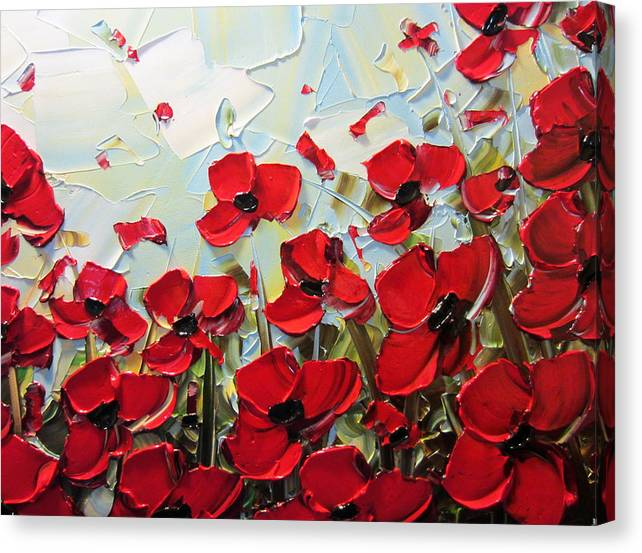 Summer Red Poppies by Christine Bell
