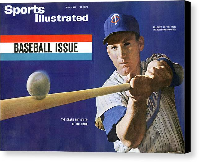 Magazine Cover Canvas Print featuring the photograph 1963 Mlb Baseball Preview Issue Sports Illustrated Cover by Sports Illustrated
