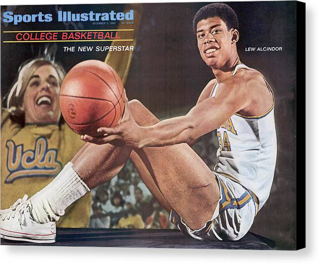 Magazine Cover Canvas Print featuring the photograph University Of California Los Angeles Lew Alcindor Sports Illustrated Cover by Sports Illustrated
