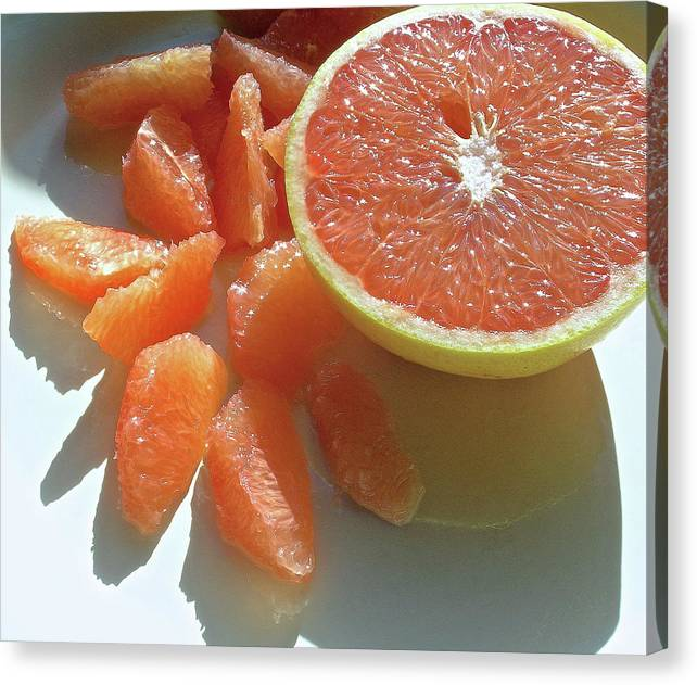 Grapefruit Canvas Print featuring the photograph Sunrise Sections by James Temple