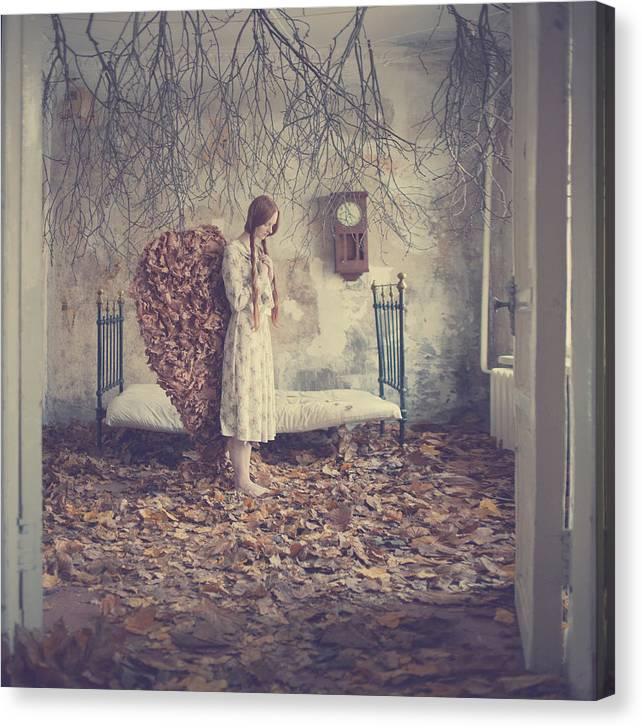 Canvas Print featuring the photograph The Autumn Angel by Anka Zhuravleva
