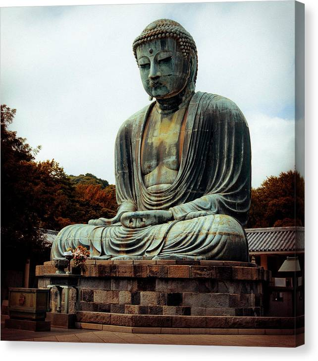 Nate Spotts Canvas Print featuring the photograph Daibutsu by Nathan Spotts
