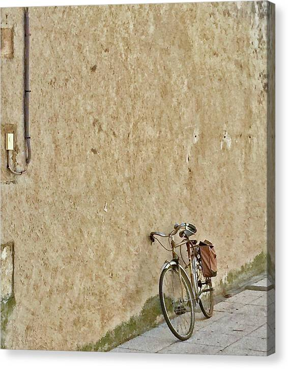 Europe Canvas Print featuring the digital art Provencial Bike by Scott Waters