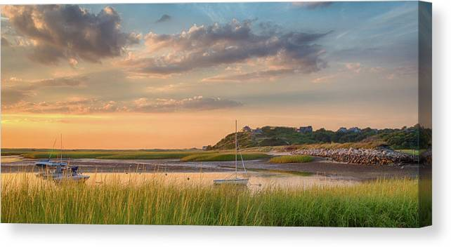 Scenics Canvas Print featuring the photograph Pamet Harbor In Afternoon by Betty Wiley