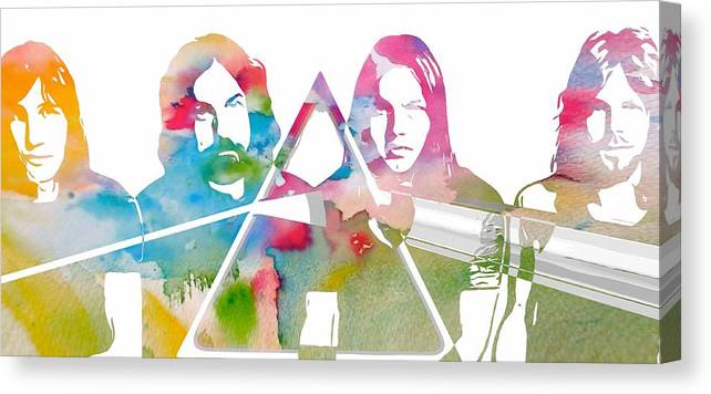 Pink Floyd Poster Canvas Print featuring the digital art Pink Floyd by Dan Sproul