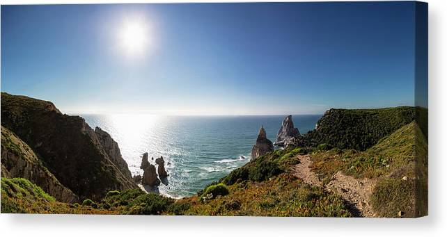 Tranquility Canvas Print featuring the photograph Portugal, View Of Praia Da Ursa by Westend61