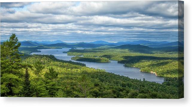 Tranquility Canvas Print featuring the photograph View From Bald Mountain by Barbara Friedman