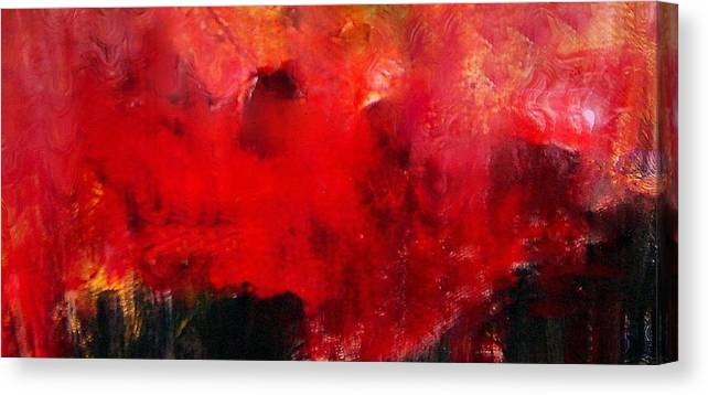 Inspired By Adele's Song Of The Same Title Canvas Print featuring the digital art Set fire to the rain by Joseph Ferguson