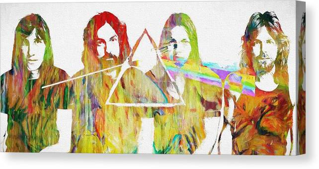 Colorful Abstract Pink Floyd Canvas Print featuring the painting Colorful Abstract Pink Floyd by Dan Sproul