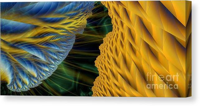 Lightning Canvas Print featuring the digital art Fractal Storm by Ron Bissett