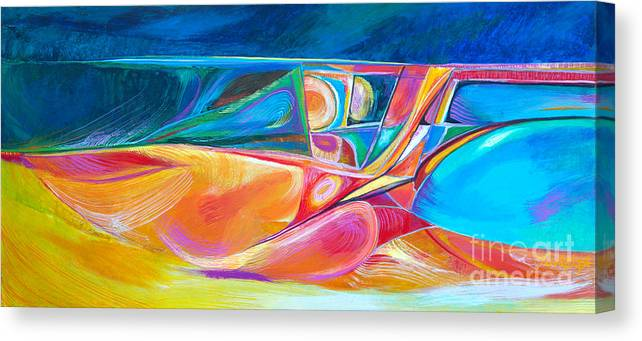 Lines Curves Canvas Print featuring the painting F.R.Wave by Priscilla Batzell Expressionist Art Studio Gallery