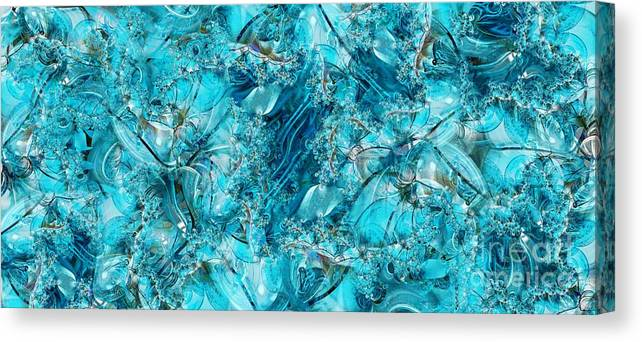 Collage Canvas Print featuring the digital art Glass Sea by Ron Bissett