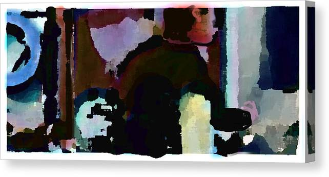 Abstract Expressionism Canvas Print featuring the painting Lunch counter by Steve Karol