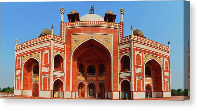 Arch Canvas Print featuring the photograph Humayuns Tomb, New Delhi by Mukul Banerjee Photography