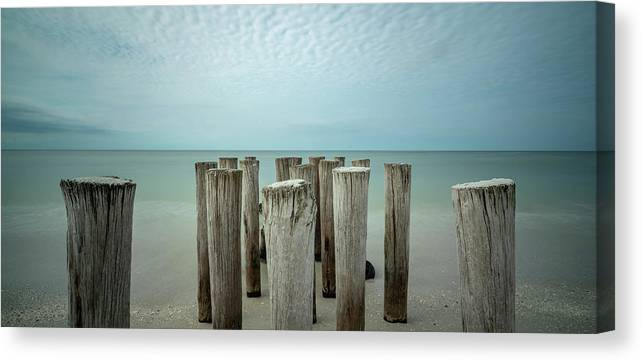 Naples Florida 2021 Canvas Print featuring the photograph Naples Pilings 2021 by Joey Waves