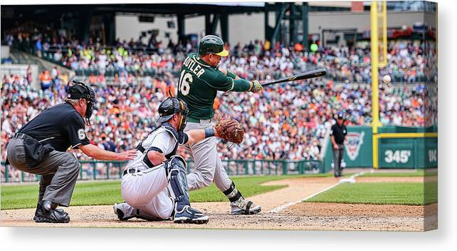People Canvas Print featuring the photograph Billy Burns and Billy Butler by Leon Halip