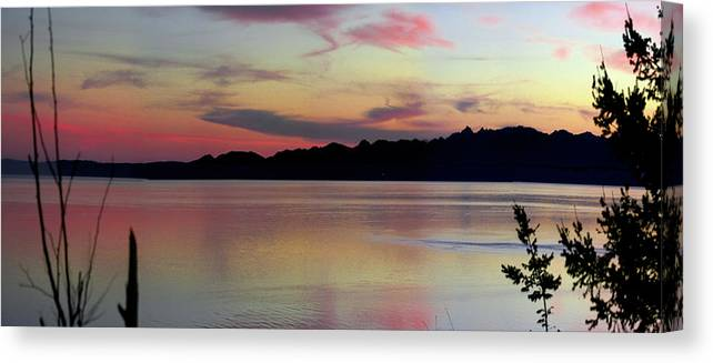 Sunset Canvas Print featuring the photograph Early Whidbey Island Sunset by Mary Gaines