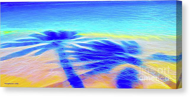 Shadow Canvas Print featuring the photograph Shadows In The Surf by Jerome Stumphauzer