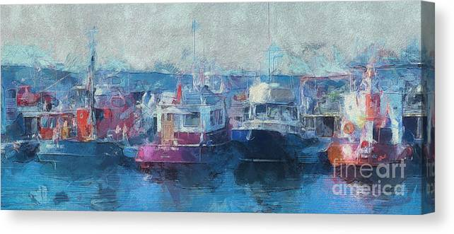 Tugs Canvas Print featuring the photograph Tugs Together by Claire Bull